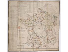 DUPAIN-TRIEL, J-L. -  Tableau géographique de la navigation intérieure du territoire de l'Empire français.