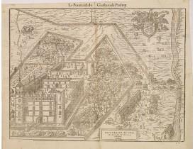 BELLEFOREST, F. de. -  Pourtraict du chasteau seigneurial, de Paulmy.