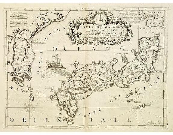 CORONELLI, V. M. -  Isola del Giapone e Penisola di Corea. . .