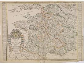 DUVAL, P. / BEREY, N. -  La carte Generale de France et de ses nouvelles Acquisitions. . .