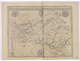 BOUGUEREAU, M. / LECLERC, J. -  Description du pays Armorique a pres[ent] Bretaigne.