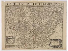 BOUGUEREAU, M. / LECLERC, J. -  Carte du Pais de Champaigne.