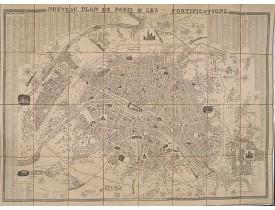 DANLOS. -  Nouveau plan de Paris & ses fortifications.
