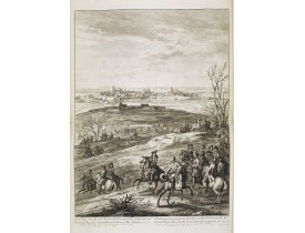 MEULEN, A. F. van der. -  Saint-Omer; veu du costé du fort de Bournonville, assiégé et pris par l'armée du Roy, sous le commandement de Monsieur le Duc d'Orléans, en avril 1677.