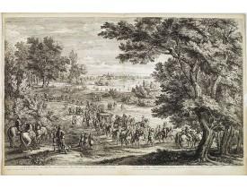 MEULEN, A. F. van der. -  Le Roy dans sa calleche accompagné des Dames dans le Bois de Vincennes.