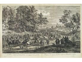 MEULEN, A. F. van der. -  La Reine allant à Fontainebleau accompagnée de ses gardes.