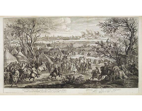 MEULEN, A. F. van der. -  Le Roy s'estant rendu maître de la Ville de Cambray, attaque ensuite et prend la Citadelle, jusqu'alors estimée imprenable, en l'année 1677.