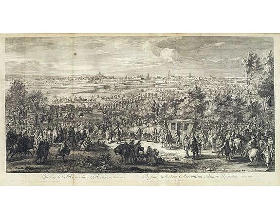 MEULEN, A. F. van der. -  Entrée de la Reine dans Arras, en l'année 1667.