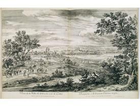 MEULEN, A. F. van der. -  Veuë de la Ville d'Ardres du costé de Calais.