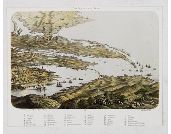 LEMERCIER. -  (Vue générale du théatre de la guerre d'Orient) dans la province de Kerson.