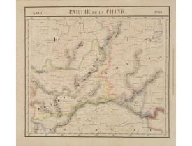 VANDERMAELEN, Ph. -  Partie de la Chine N°86. (Covers Guizhou and parts of Yunnan, Guangxi, Hunan, Hubei and Sichuan.)