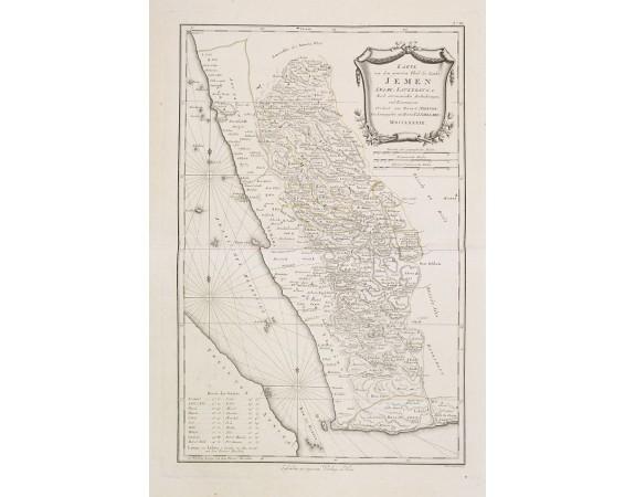 SCHRÄMBL, F. A. -  Karte von dem groessten Theil des Landes Jemen Imame, Kaukeban &c.