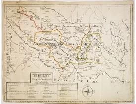 SANSON, G. -  Le Dioecese de l'Archevesché de Bourges.