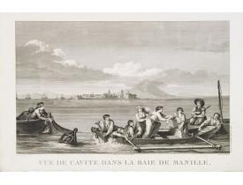 LA PEROUSE, J. F. G. de -  Vue de cavite dans la Baie de Manille.