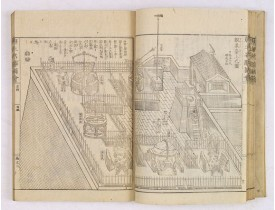 OKADA GYUKUZAN, OKA YUGAKU, OHARA TOYA MINSEI -  Morokoshi Meisho Zue [Illustrated Description of Famous Sites of China].