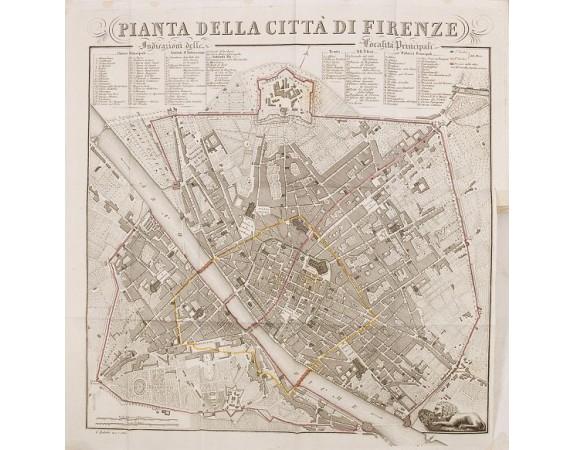 BULGARINI, A. -  Guide de Florence et de ses environs Redige´ sur un plan entierement nouveau par l'Abbé A. Bulgarini et Traduit en français par A. Le Rendu. Deuxième édition.