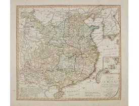 GEOGRAPH. INSTITUTS -  Charte von China nach Murdochischer Projection entworfen. ... Berichtiget, und gezeichnet von H.F.A. Stieler. . .