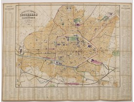 MOLS-MARCHAL, L. -  Nouveau plan itinéraire de la ville de Bruxelles et ses faubourgs. . . 1883.
