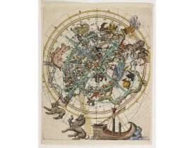 ANONYME. -  (Northern celestial planisphere with a pasted volvelle).
