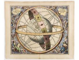 CELLARIUS, A. -  Situs Terrae Circulis Coelestibus circundatae..