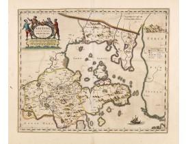 BLAEU, J. -  Xantung, sinarum imperii provincia quatra.
