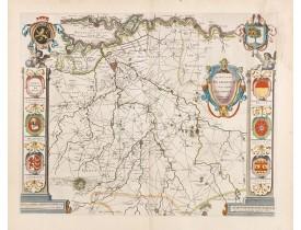 BLAEU, W. -  Quarta pars Brabantiae cujus caput Sylvaducis.
