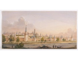 RUSSIAN SCHOOL. -  (View of the Moscow Kremlin, seen from the Moskva River in the south).