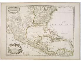 L'ISLE, G. de / DEZAUCHE. -  Carte du Mexique et des Etats Unis d'Amérique…