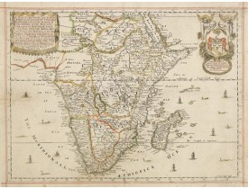 BLOME, R. -  A Mapp of the Higher and Lower Aethiopia, Comprehending Ye Several Kingdomes  [. . .]  The Empire of the Abissines, The Coast of Aznguebar, Abex, of Nubia  [. . .] Cafre [. . .] 1669.