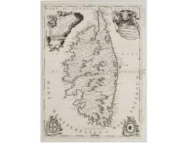 CORONELLI, V. M. -  Isola di Corsica, Dedicata all' Em;mo e Rmo: Principe, il Sr. Cardinale Carpegna, Vicario di Sua Santita. Dal Cosmografo Coronelli.