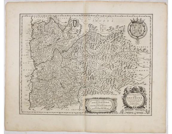BLAEU, W. -  Delphinatus vulgo Dauphiné avec les confins des pais et provinces voisines. Par Jean de Beins. . .