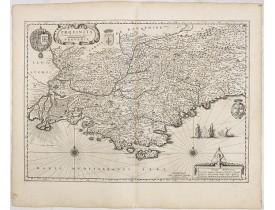 BLAEU, W. -  Provincia autore Petro Johanne Bompario Provence.