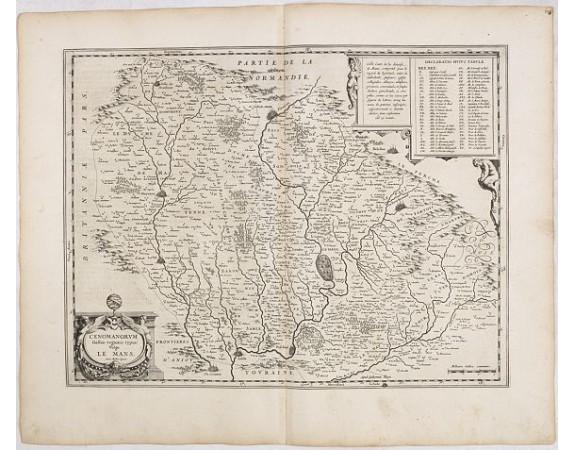 BLAEU, W. -  Cenomanrum Galliae regionis typus: vulgo Le Mans.
