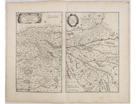 BLAEU, W. -  Perchensis Comitatus. Le Perche Comte [together with] Comitatus Blesensis, Auctore Ioanne Temporio. Blaisois.