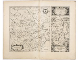 BLAEU, W. -  Lemouicum, Auctore Jo. Faiano M.L. - Lymosin (together with) Topographia Limaniae, Auctore Gabriele Simeoneo.