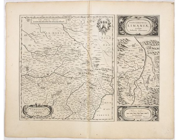 BLAEU, W. -  Lemouicum, Auctore Jo. Faiano M.L. - Lymosin (together with) Topographia Limaniae, Auctore Gabriele Simeoneo.