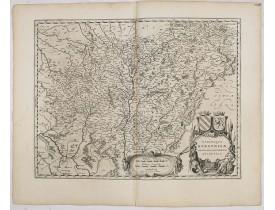 BLAEU, W. -  Utriusque Burgundiae, tum Ducatus tum Comitatus, Descriptio.