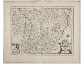 BLAEU, W. -  Champagne latine Campania, comitatus.