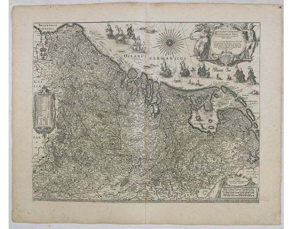 BLAEU, W. -  Novus XVII Inferioris Germaniae Provinciarum Typus.