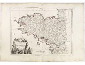 SANTINI, P. / REMONDINI, M. -  Carte du Gouvernement de Bretagne.