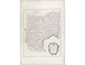 SANTINI, P. / REMONDINI, M. -  Carte des Gouvernements de Languedoc, de Foix et de Roussillon.