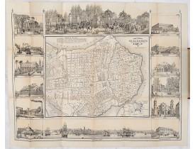 MAY, B. Y CA. -  ISLA DE CUBA [with 2 maps] Plano Pintoresco De La Habana con los numeros de las casas B. May y Ca. 1853. (with) Inset map Puerto y Cereanias De La Habana. (with) 14 views of Havana & prominent buildings.