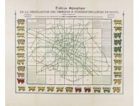 RICHARD, V. -  Tableau synoptique de la circulation des omnibus à correspondances de Paris.