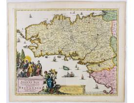 PERSOY, P. -  Nobm° Prudm°qs Vìro Joanni Six ... hanc novissimam Britanniae, olim Armoricae, tabulam summa veneratione d.d.d. Petrus Persoy.