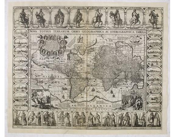 JANSSONIUS, J. / LONS, D. -  Nova totius terrarum orbis geographica ac hydrographica..