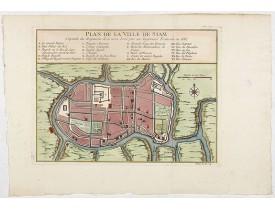 BELLIN, J.N. -  Plan de la ville de Siam.