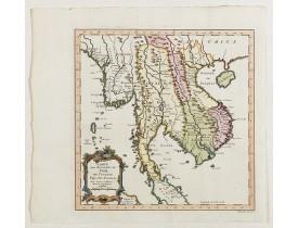 BELLIN, J.N. -  Carte des Royaumes de Siam, du Tunquin, Pegu, Ava, Aracan . . .