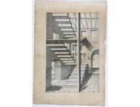 VREDEMAN DE VRIES, J. / HONDIUS, H. -  Perspective print by Vredeman de Vries. 31.