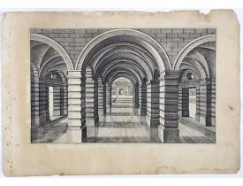 VREDEMAN DE VRIES, J. / HONDIUS, H. -  Perspective print by Vredeman de Vries. 41.