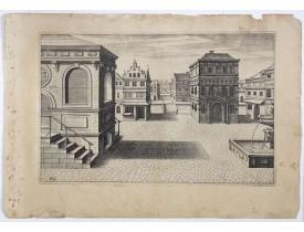 VREDEMAN DE VRIES, J. / HONDIUS, H. -  Perspective print by Vredeman de Vries. 42.